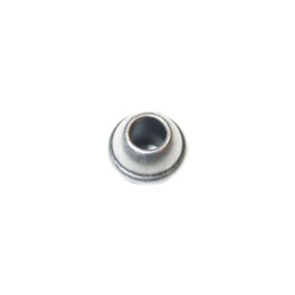 Silver colored Metal bead with edge