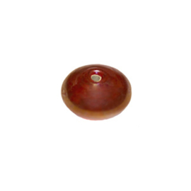Round red glass bead