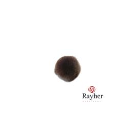 Bruine pompon 10 mm van Rayher