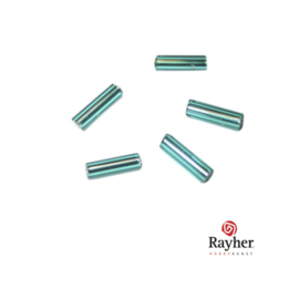 Jadegroene glasstift 7/2 mm met zilverkern