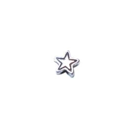 Zilverkleurige kleine ster