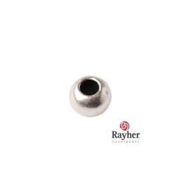 Silver colored metal bead from the Rockstars serie