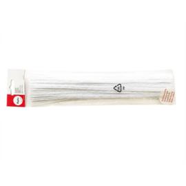 Chenille wire White 0,6 cm (25 pieces)