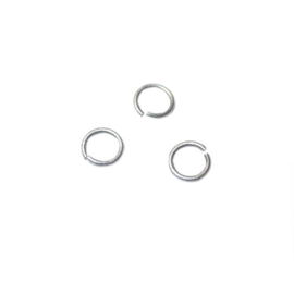 Jump ring, Old silver colored; 0.8 mm thickness