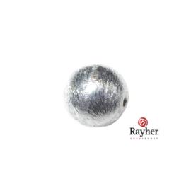 Ronde zilveren kraal, 12 mm