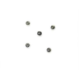 Zilverkleurige ronde kralen van plastic 2,5 mm, Rayher