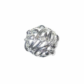 Silver colored bead cap Silverplated
