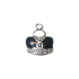 Bag Charm made of metal with black in crown form