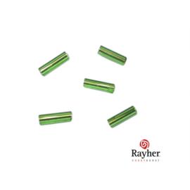 Groene glasstift 7/2 mm met zilverkern