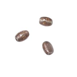 Bronskleurig, ovaal glaskraaltje
