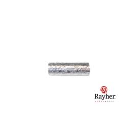 Zilveren buisje, rond 10 mm