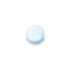 Lichtblauwe platte glaskraal