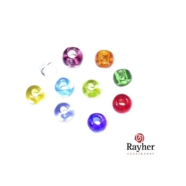 Mixed coloured rocaille Transparent 2,6 mm