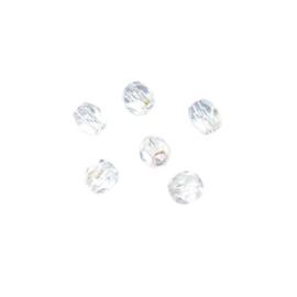 Bergkristallen, glazen facetkraal 4 mm