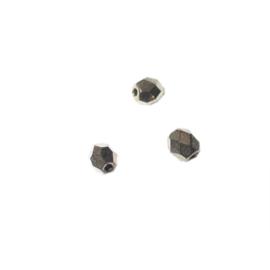 Koperkleurige glazen facetkraal 4 mm