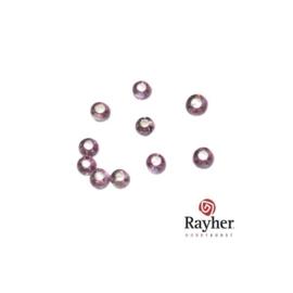 Paarse rocaille met zilverkern 2,6mm van Rayher