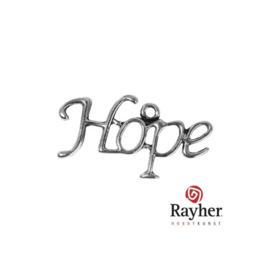 Zilverkleurige metalen Hanger Hope