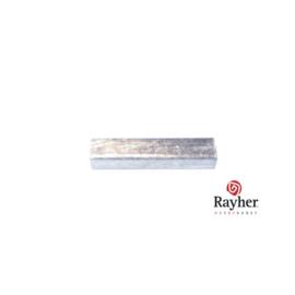 Zilveren buisje, vierkant, 15 mm