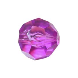 Purple polyester bead