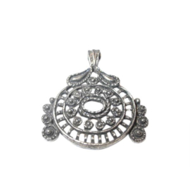 Old- silver colored, decorated pendant