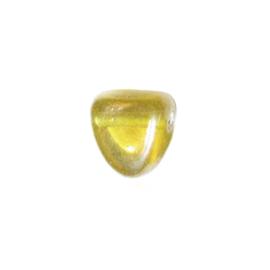 Gele hangende glaskraal