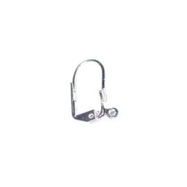 Zilverkleurige oorbelhaak