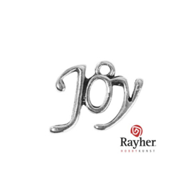 Silver colored metal deco hanger Joy