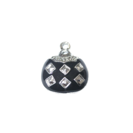 Bag Charm made of metal with black