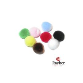Pompons gemengd 20 mm van Rayher, 10 stuks