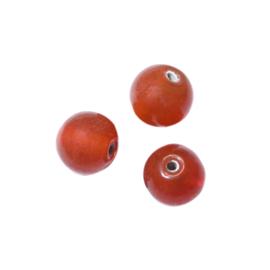 Oranje ronde glaskraal