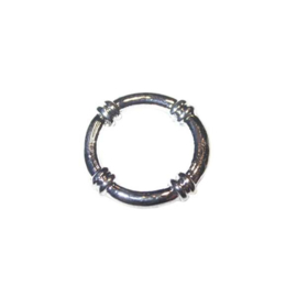 Metalen kraal, ring 24 mm
