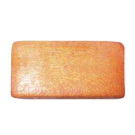 Oranje platte houten kraal