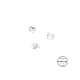 Crystal AB Swarovski bicone bead 4 mm