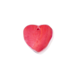 Red heartform glass bead
