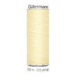 Nr 325 Geel Gutermann alles naaigaren 200 m