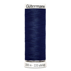 Nr 013 Donkerblauw Gutermann alles naaigaren 200 m
