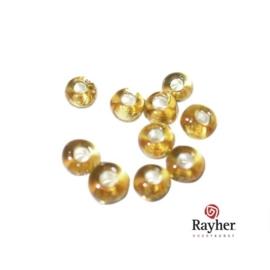 Goudkleurige rocaille met zilverkern 2,6 mm van Rayher