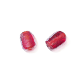 Red glass bead