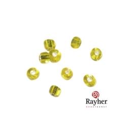 Gele rocaille met zilverkern 2,6mm  van Rayher