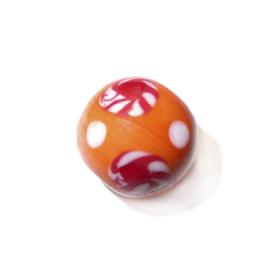 Grote, oranje, ronde glaskraal