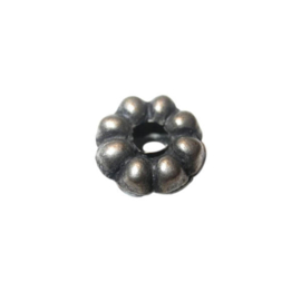 Indian metal bead with big hole of 5 mm