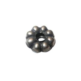 Indiaas metalen kraal met groot gat van 5 mm