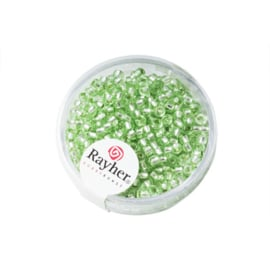 Light Green Rocaille 2,6 mm with Silverkern from Rayher