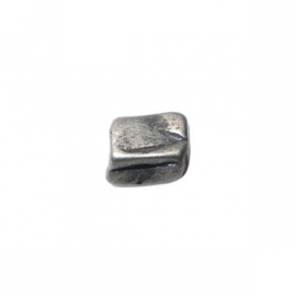 Metalcolored four cornered antique finished bead