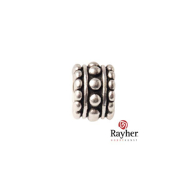 Silver colored metal round bead