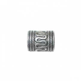 Metal coloured bead, decorated