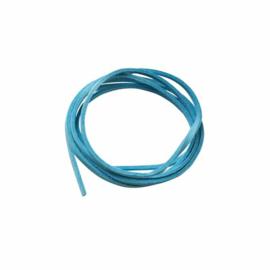 Turquoise kunst suede veter 3 mm