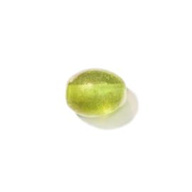 Gele glaskraal met olieglans