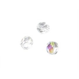 Bergkristal glazen facetkraal 6 mm