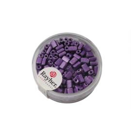Violetkleurige metallic rechthoekige rocailles van Rayher